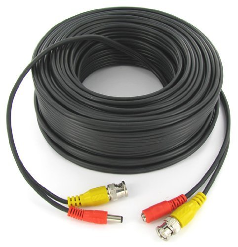 100FT Black Premade Siamese Cable