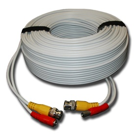 150FT White Premade Siamese Cable