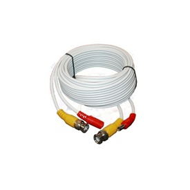 25FT White Premade Siamese Cable