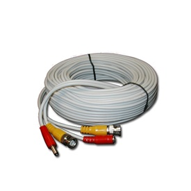 50FT White Premade Siamese Cable