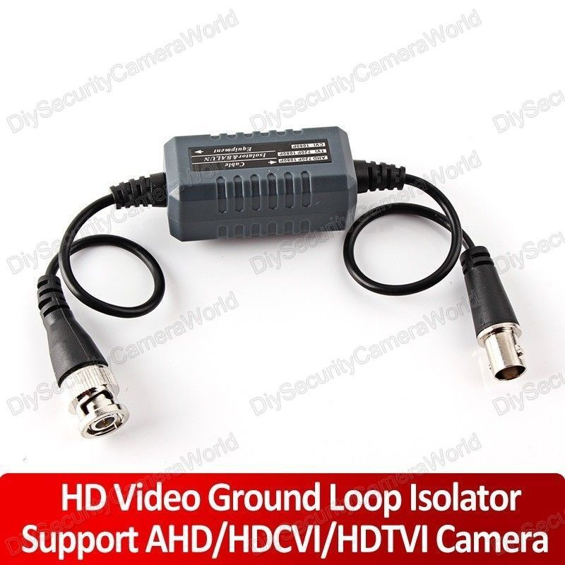 HD-CVI/TVI/AHD Coaxial Video Ground Loop Isolator