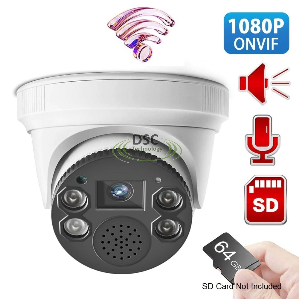 Two Way Audio Wireless Wifi 1080P IR Indoor Dome Camera