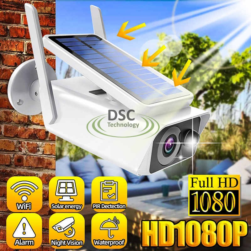 1080P Wireless Security IP Solar Energy Camera Outdoor WIFI D/N