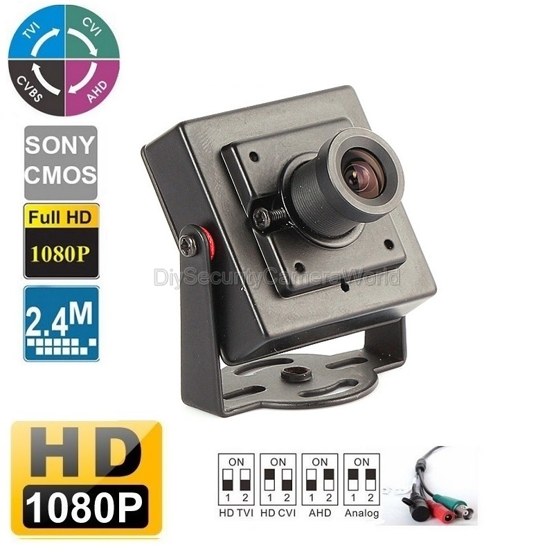 All-in-1 CVI/TVI/AHD/ANALOG Super Mini 1080P HD Hidden Camera