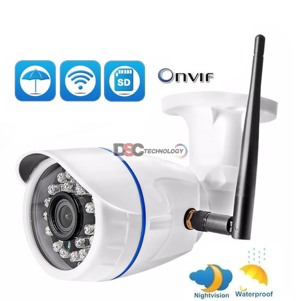 720P Onvif wireless IP Bullet Camera in/outdoor 12VDC