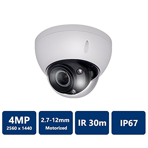 4.0 Megapixel WDR HDCVI IR-Dome Camera 2.7-12 mm motorized Lens