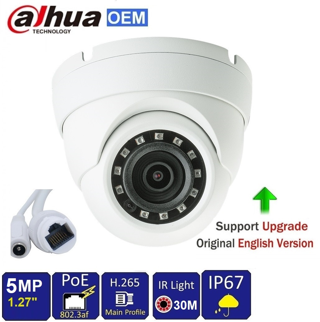 5MP HD Network IR Eyeball Camera WDR, IR100ft, POE, 2.8mm fixed