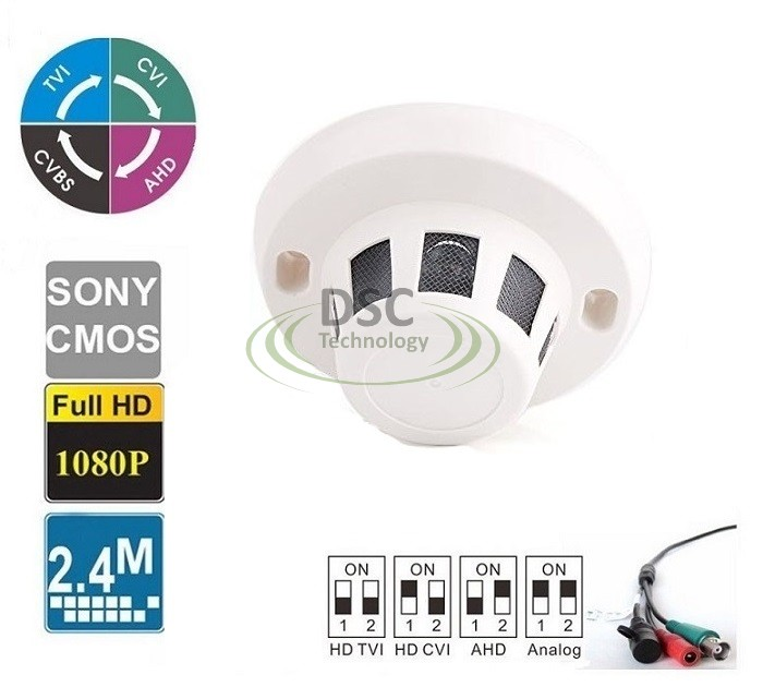 HD 1080P Hidden Camera Smoke Detector Covert 2.4MP 2.8mm Lens
