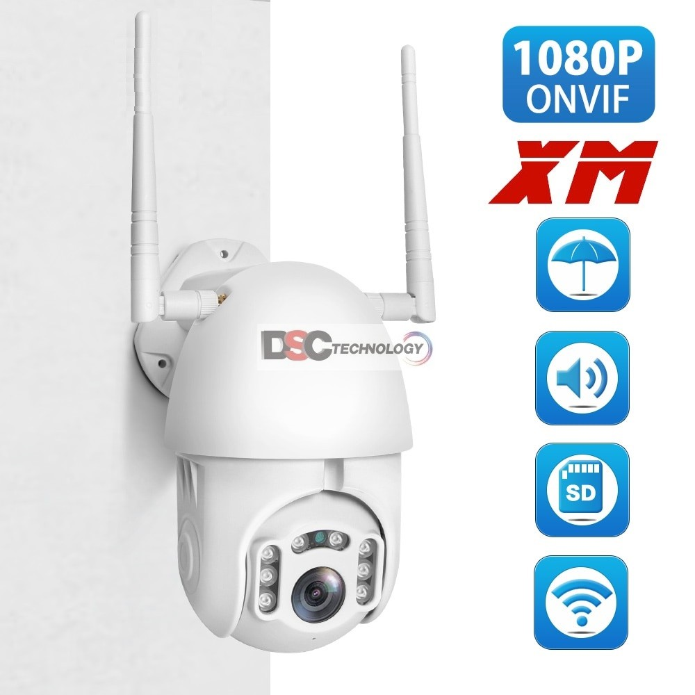 Two Way Audio Mini PT 1080P Onvif Wireless Wifi Dome Camera 12V