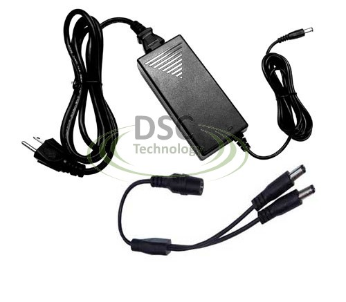 2 Port 12V DC 5A Power Supply for Surveillance Cameras