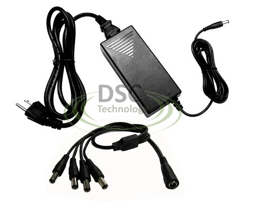4 Port 12V DC 5A Power Supply for Surveillance Cameras