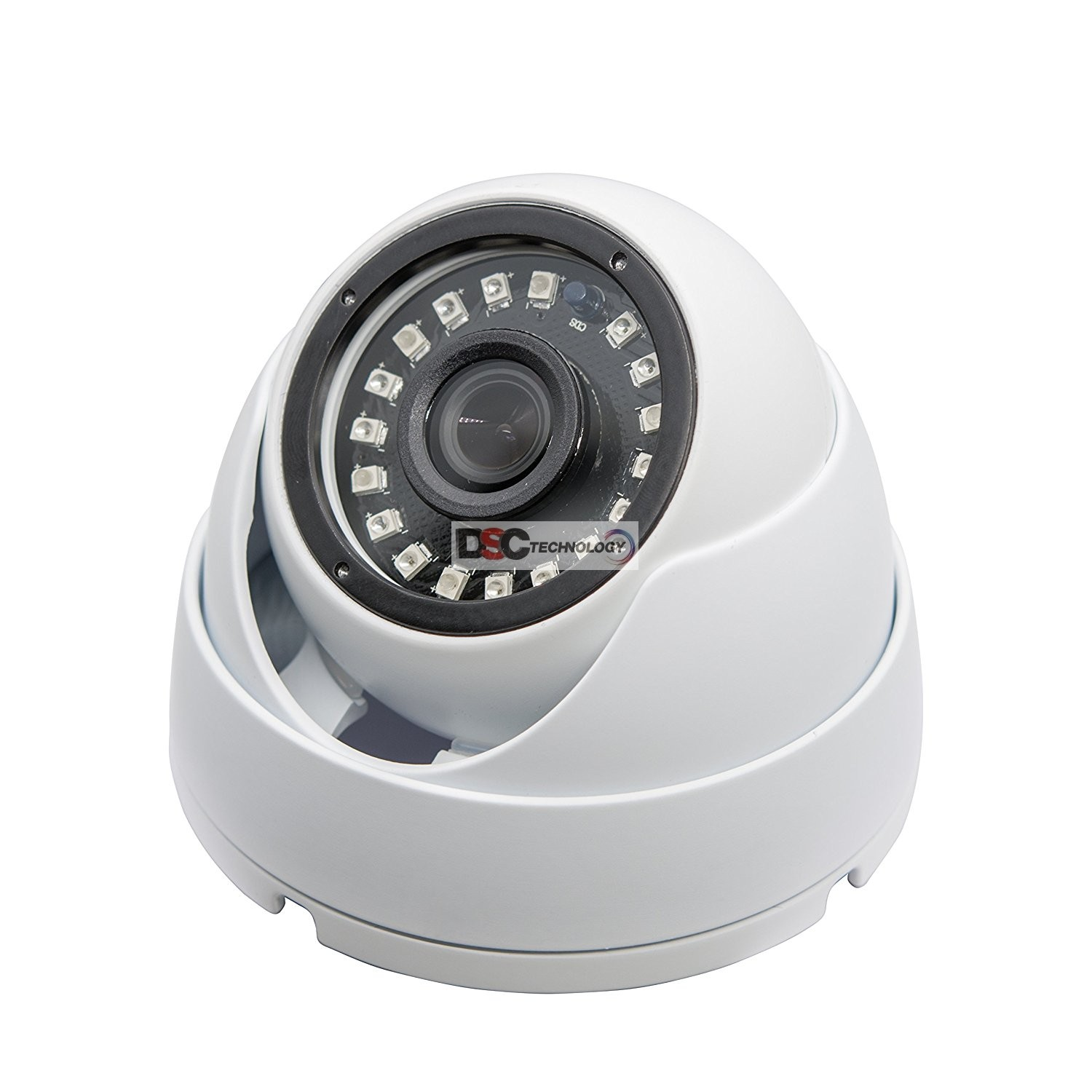 5MP (TVI/AHD)/ 4MP CVI HD IR Security Dome Camera 3mm Lens