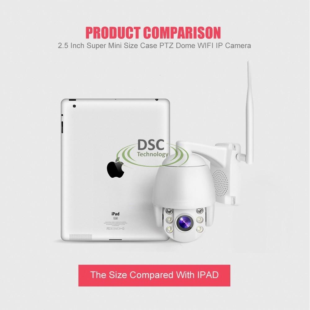 Super Mini Onvif Ptz Speed Dome Wifi Ip Camera 1080p